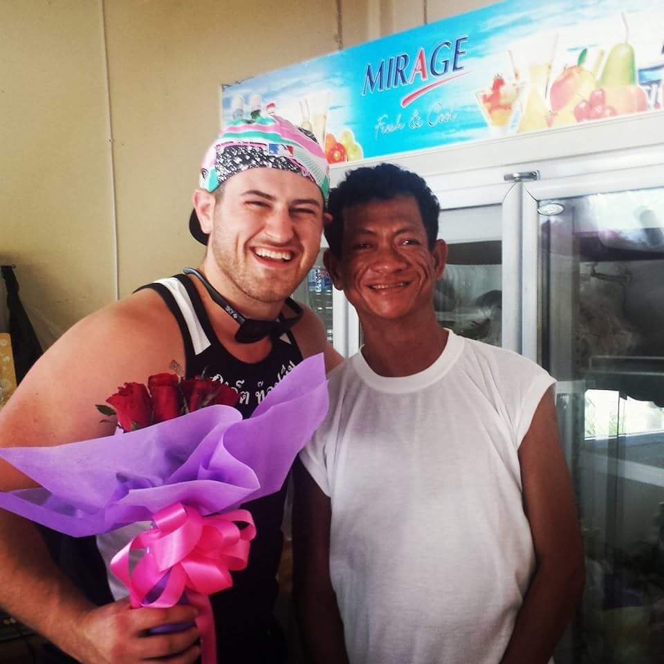 Matt from Dirty Clean Eats with retired Thai Drag Queen