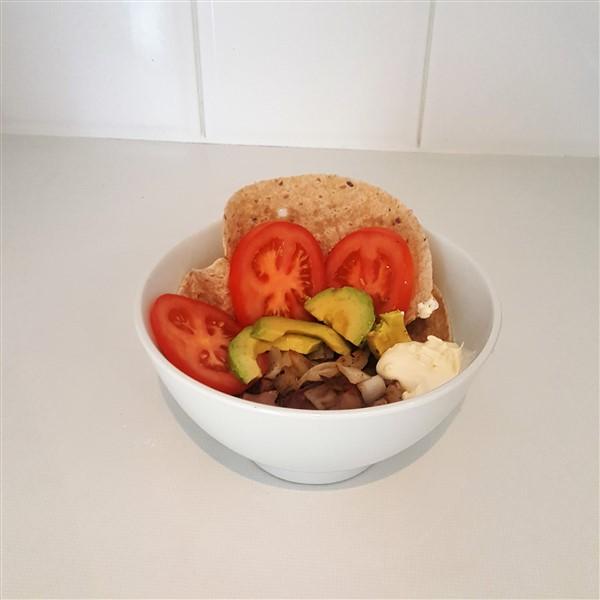 Clean Eating Open Lamb Yiros